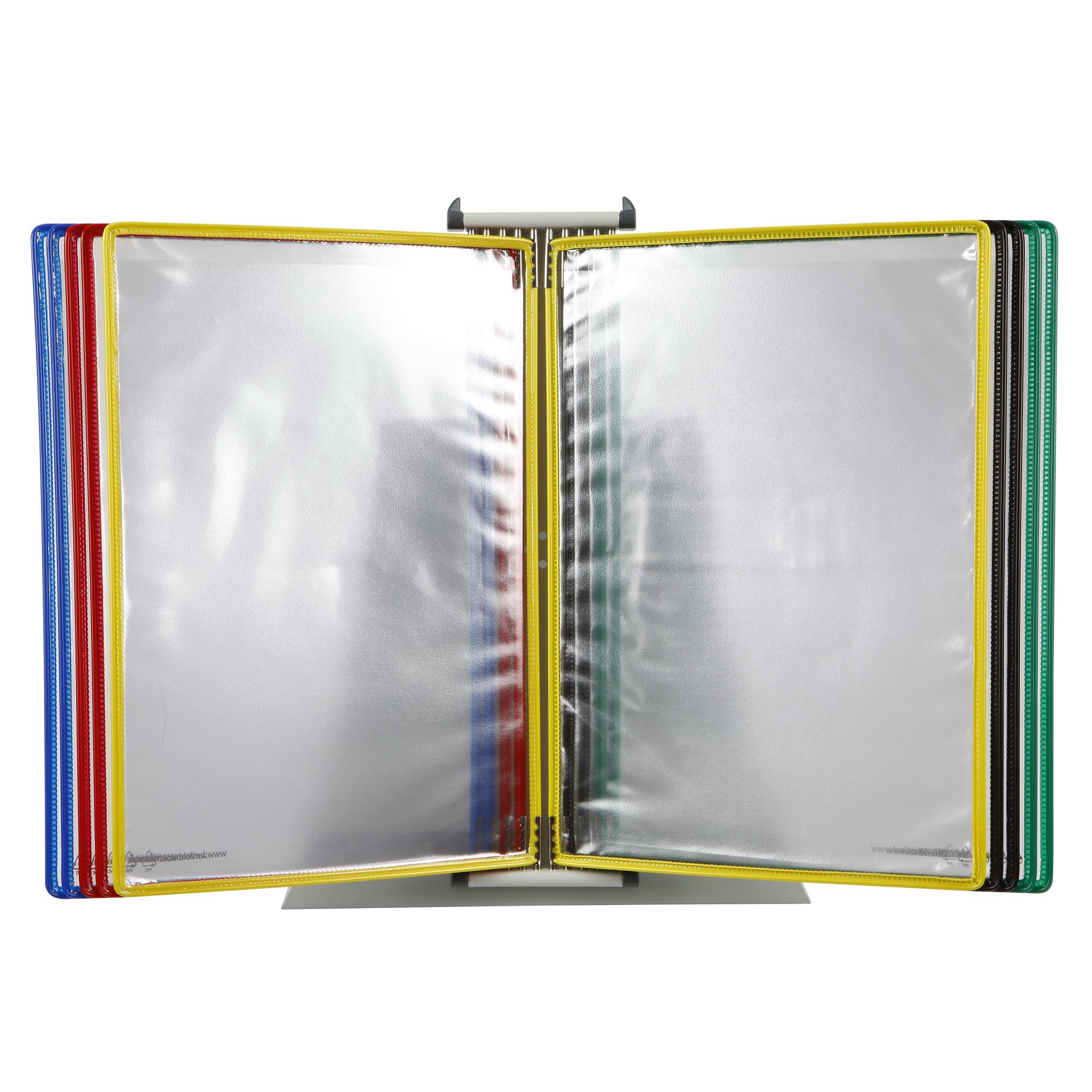 Tarifold 434109 Desk Mount Brochure Holder A4 10 Pockets