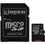 Kingston MicroSDXC UHS-I Class10 MemoryCard 64GB (SDCS)