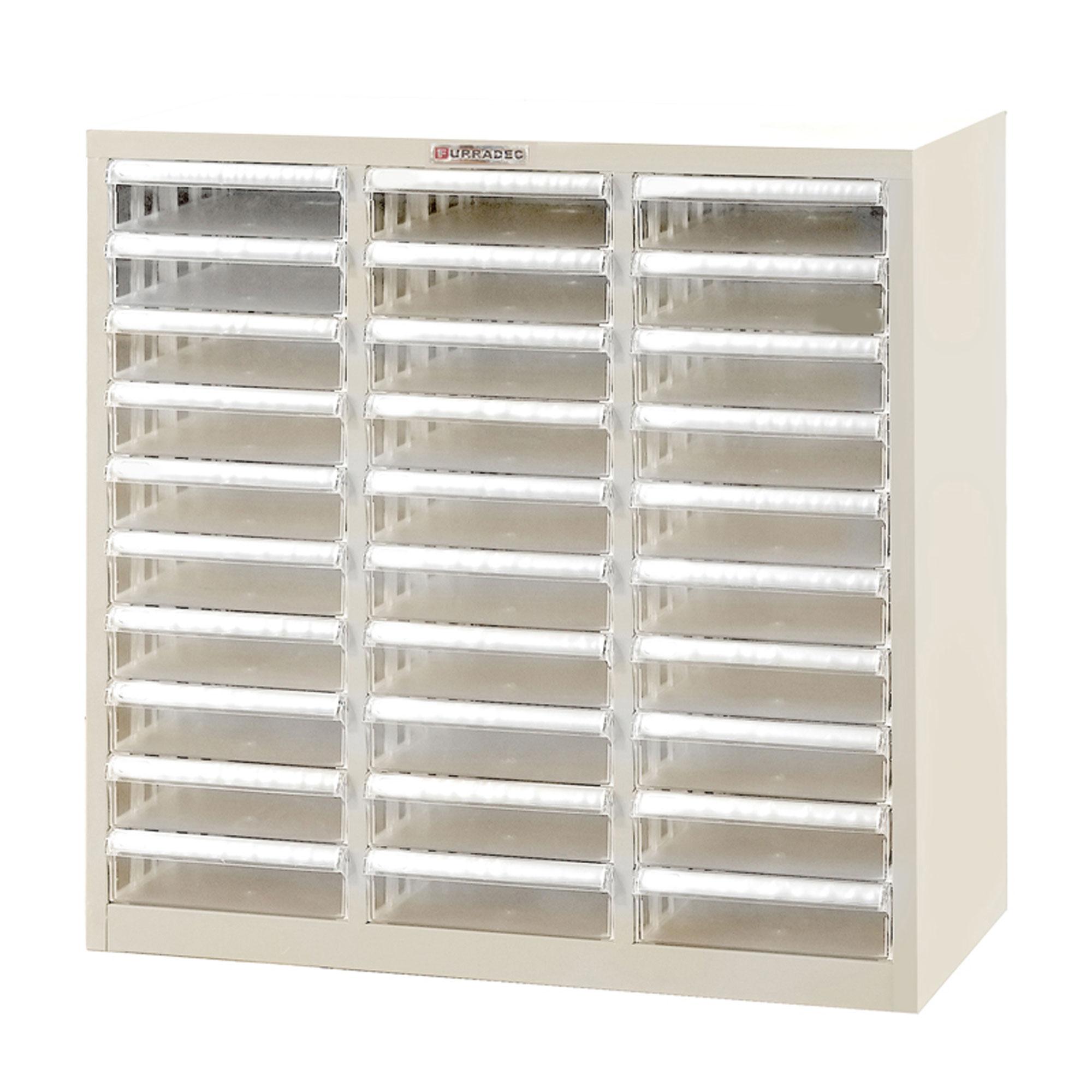 Furradec OD 302 Steel File Cabinet 30 Drawer Cream Document Storage